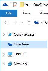 Иконка OneDrive в проводнике Windows