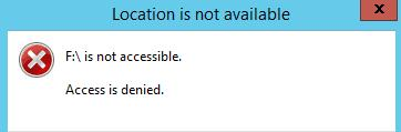 USB Location is not available