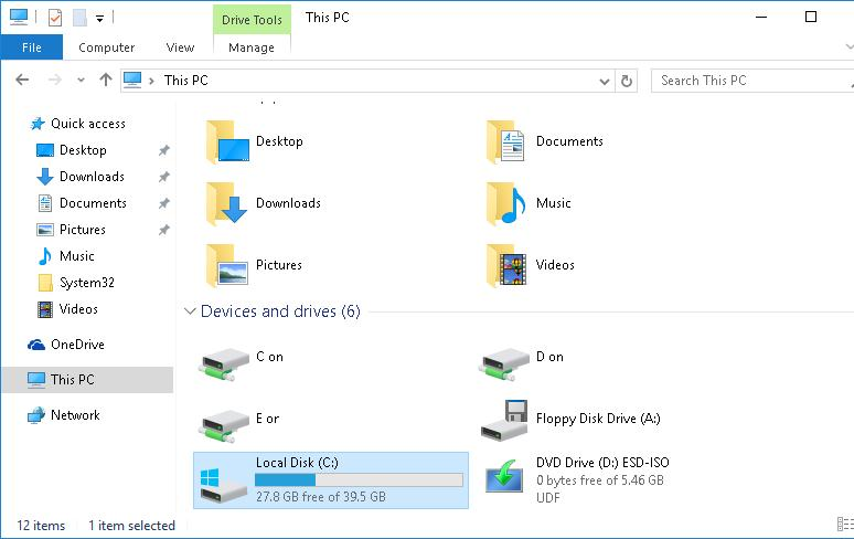 Window 10 Compact OS  сжатие системных файлов