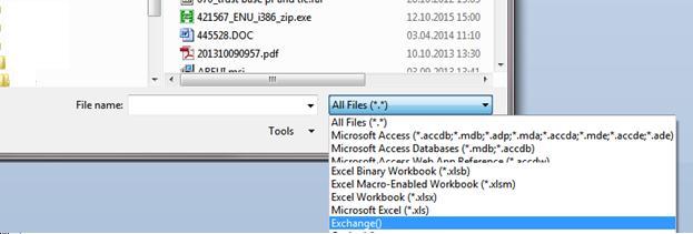 Подключение к Exchange через Access