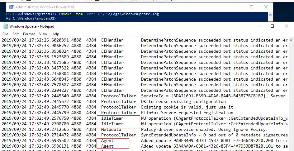 просмотр WindowsUpdate.log в Windows 10 / Windows server 2016