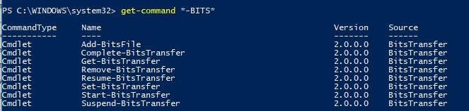 powershell get command модуль BITS