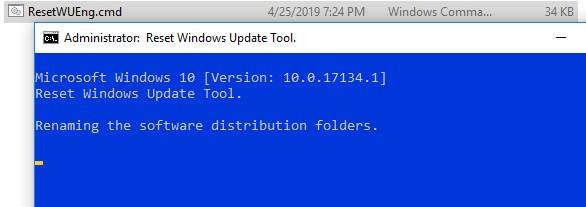 скрипт для сброса компонентов windows update