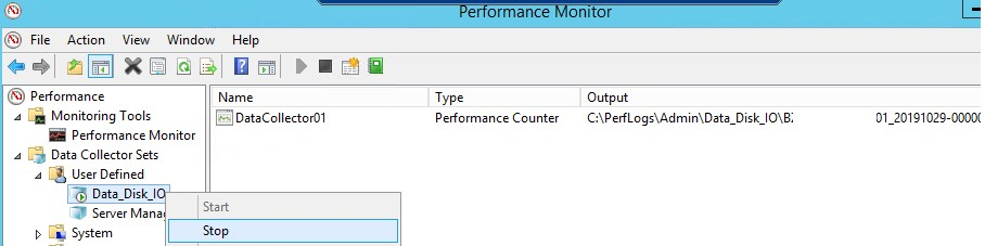 собрать данные производительсноти дисков с помощью Perfmon