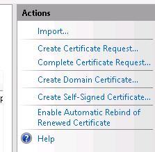 Создать самоподписанный сертификат в IIS