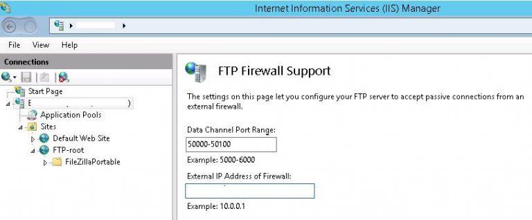 ftp firewall support
