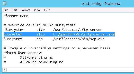 Subsystem sftp