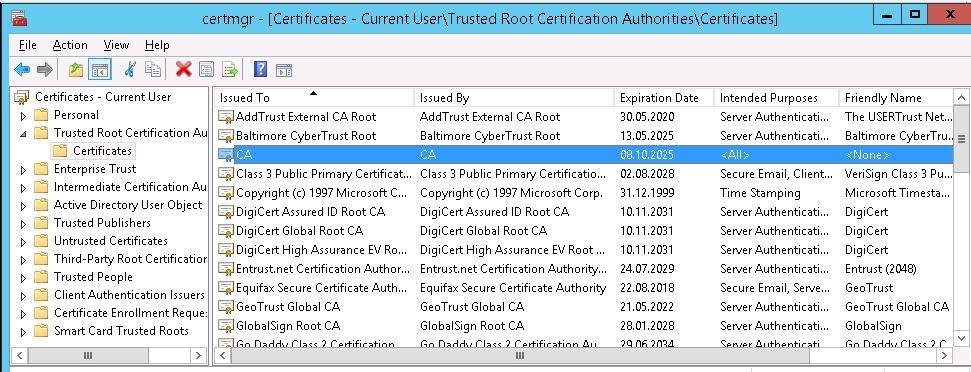 Корневой сертификат CA VMWare