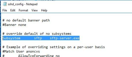 sshd_config файл конфигурации sftp_server