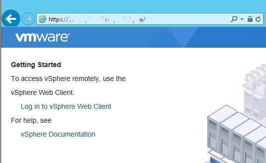 Веб интерфейс vSphere