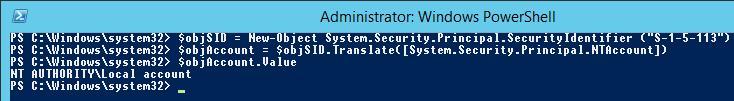 PowerShell get SecurityIdentifier
