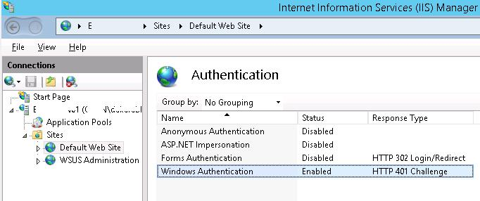 IIS - Windows Authentication