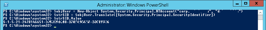 PowerShell - get SID via SecurityIdentifier and NTAccount