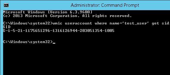 Узнать SID пользователя через WMI