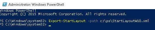 Export-StartLayout PowerShell