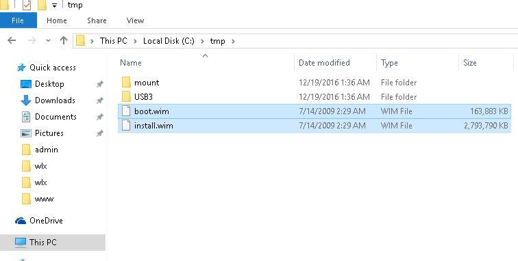 Файлы boot.wim и install.wim
