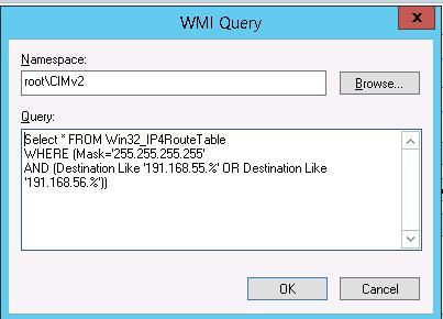 Код WMI запроса на выборку по IP адресу
