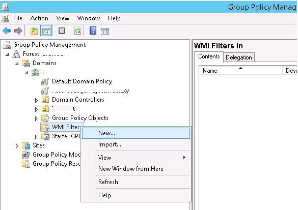 WMI фильтры в консоли управления политиками GPMC