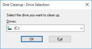 disk cleanup: cleanmgr.exe