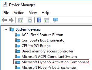 драйвер Microsoft Hyper-V Activation Component