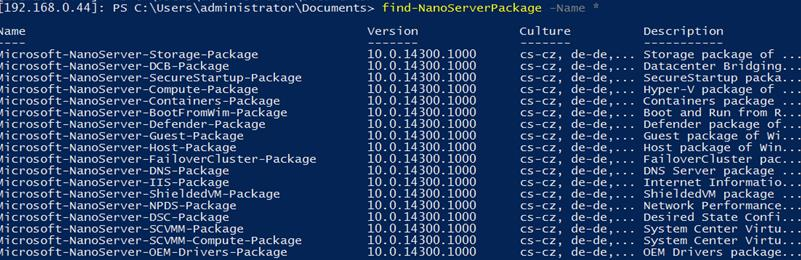 find-NanoServerPackage