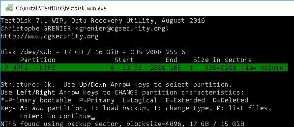 восстановление разметрки диска и структуры файлов на RAW разделе