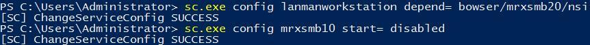 Отключить SMB 1.0 на клиенте