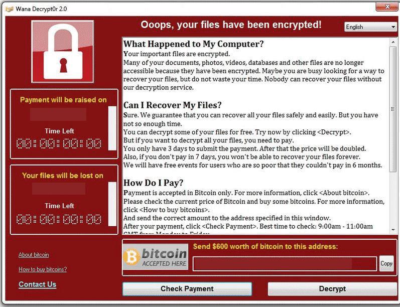 Защита Windows от вируса-шифровальщика Wana Decrypt0r