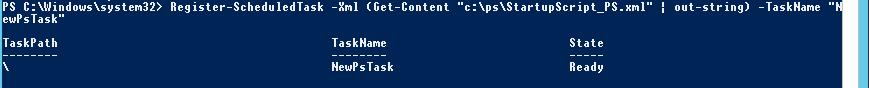 Register-ScheduledTask: импорт настроек задания планировщика в файл