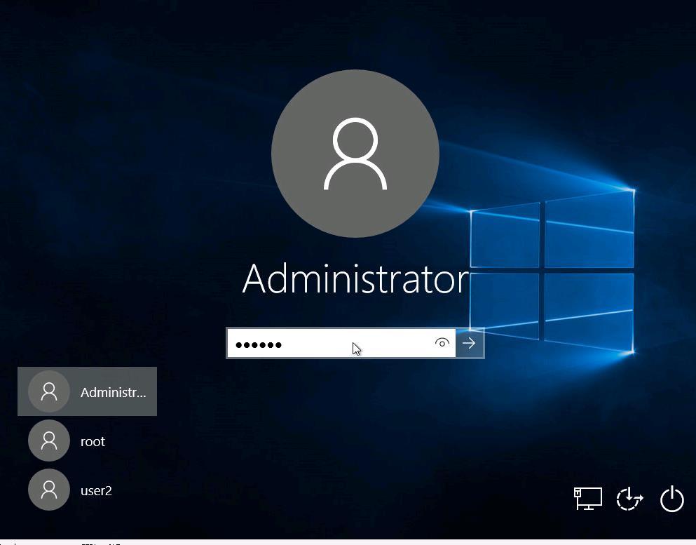 Отобрахать всех пользователей Windows на экране входа в систему