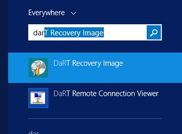DaRT Recovery Image.