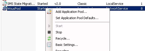 recycle iis pool