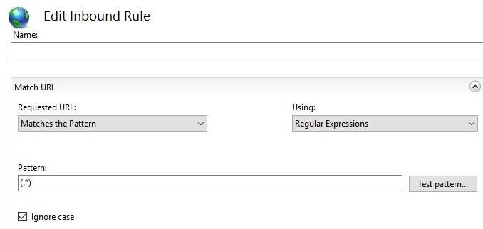 URL-Rewrite edit inbound rule