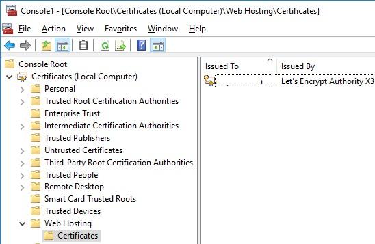 Web Hosting Certificates