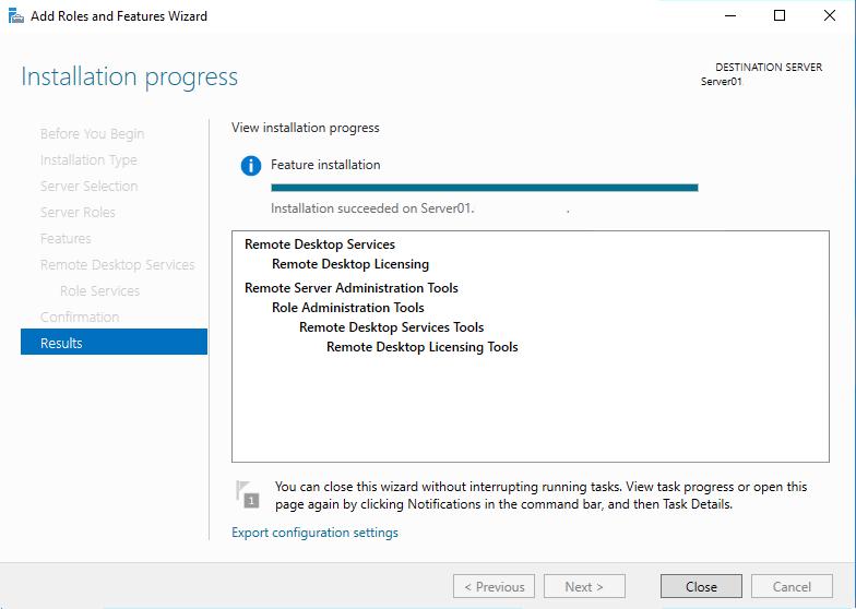 установка службы Remote Desktop Licensing