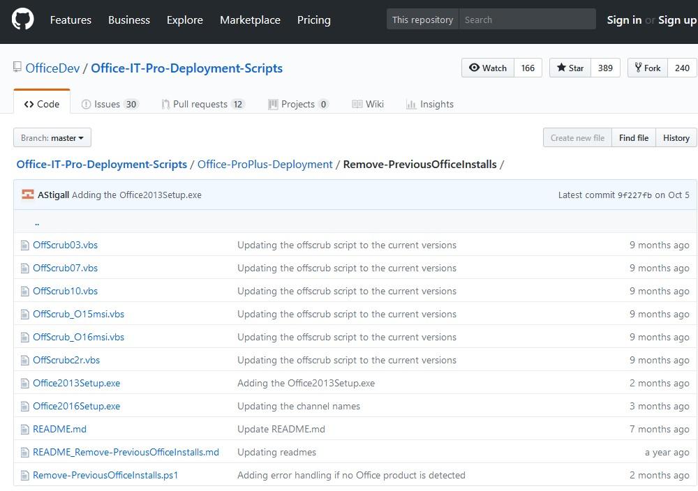 Проект Remove-PreviousOfficeInstalls - скрипты для удаления Office на GutHub