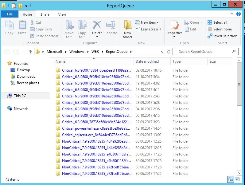 C:\ProgramData\Microsoft\Windows\WER\ReportQueue\