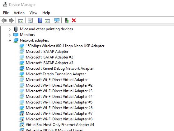 несколько Microsoft Wi-Fi Direct Virtual Adapter #3 в диспетчере устройств