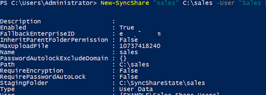 New-SyncShare