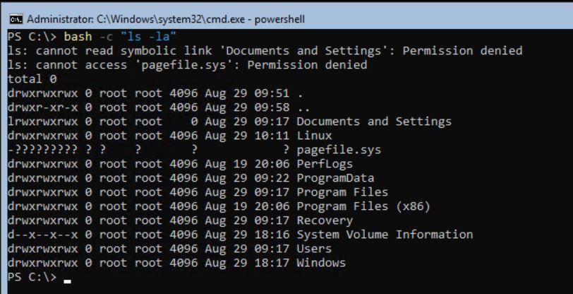 Запуск команд Linux из Windows