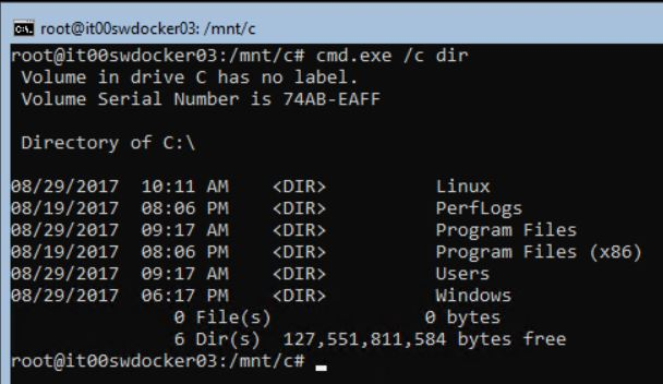 Запуск команд Windows из Linux