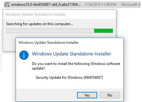 Автономный установщик обновлений Windows