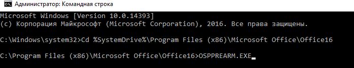 Microsoft Office rearm successful