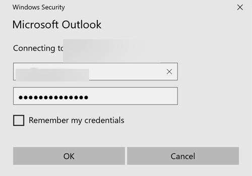 Outlook постоянно спрашивает пароль