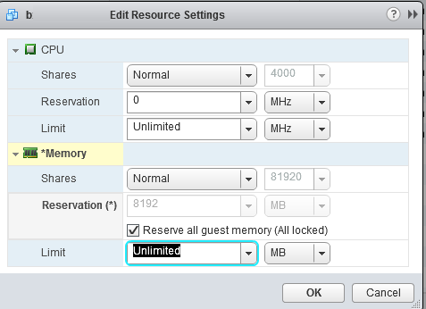 Reserve all guest memory (All locked).