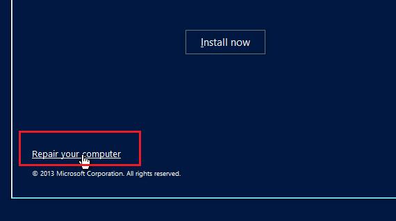 Windows 10 - восстановлене компьютера Repair Computer