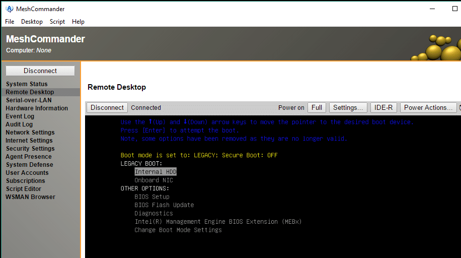 удаленное управление компьютером с Intel ATM KVM