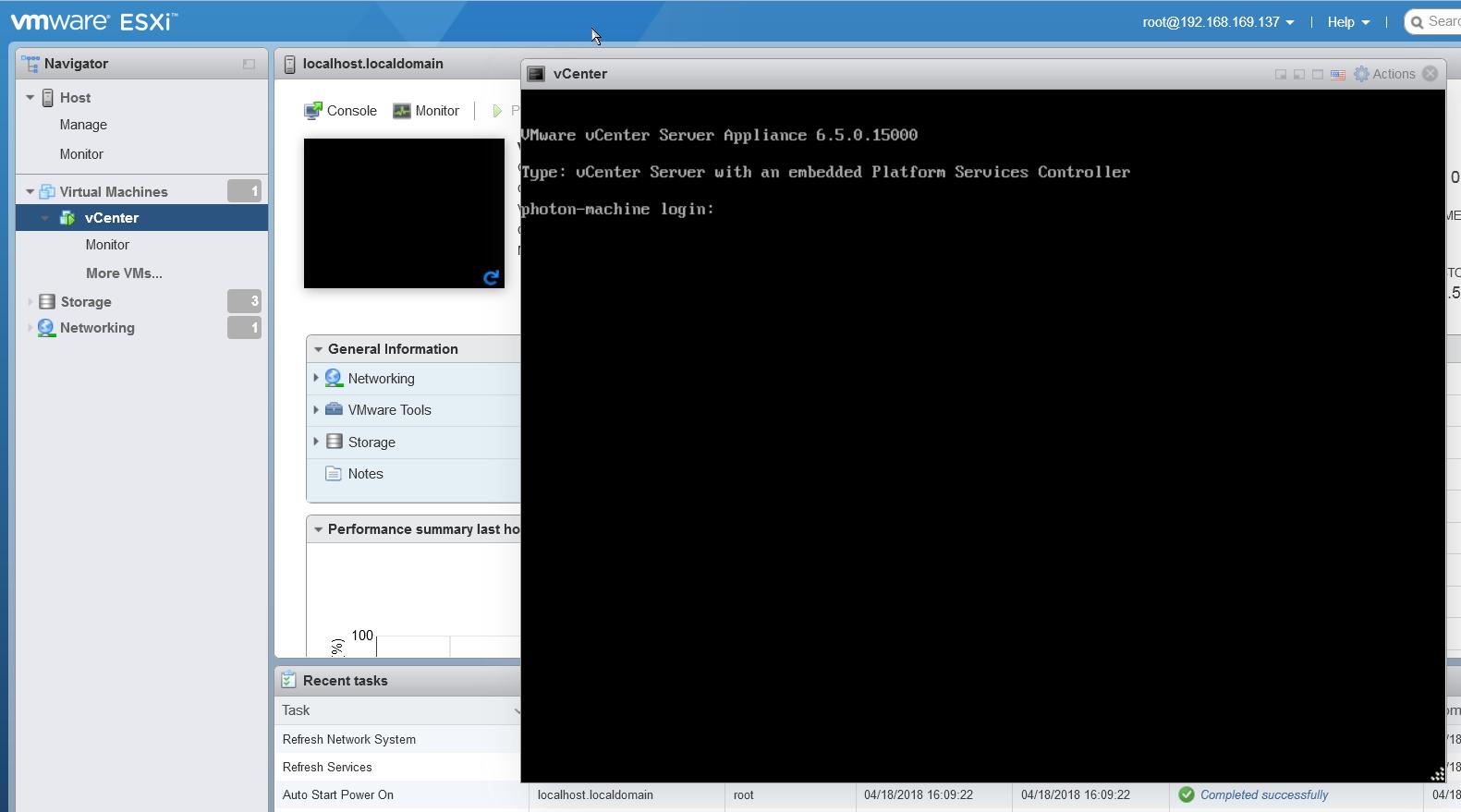 введите пароль vcenter server applicance