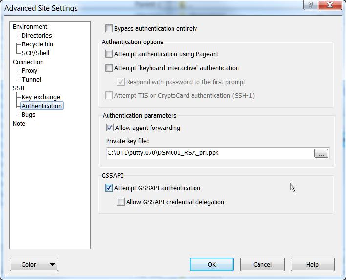 WinSCP SSH авторизация по ключам