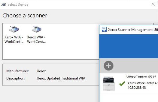 выбор сканера WIA